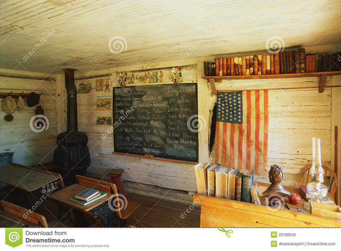 Interior One Room School House