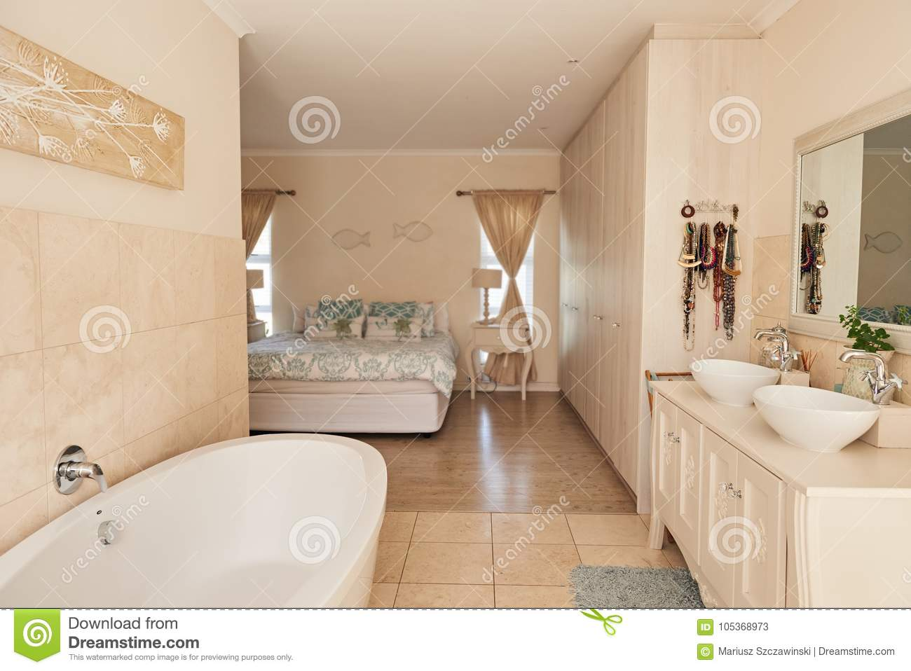 bedroom interior country modern concept country style   Contemporary Bathroom Interior In A Stylish Suburban Home ...