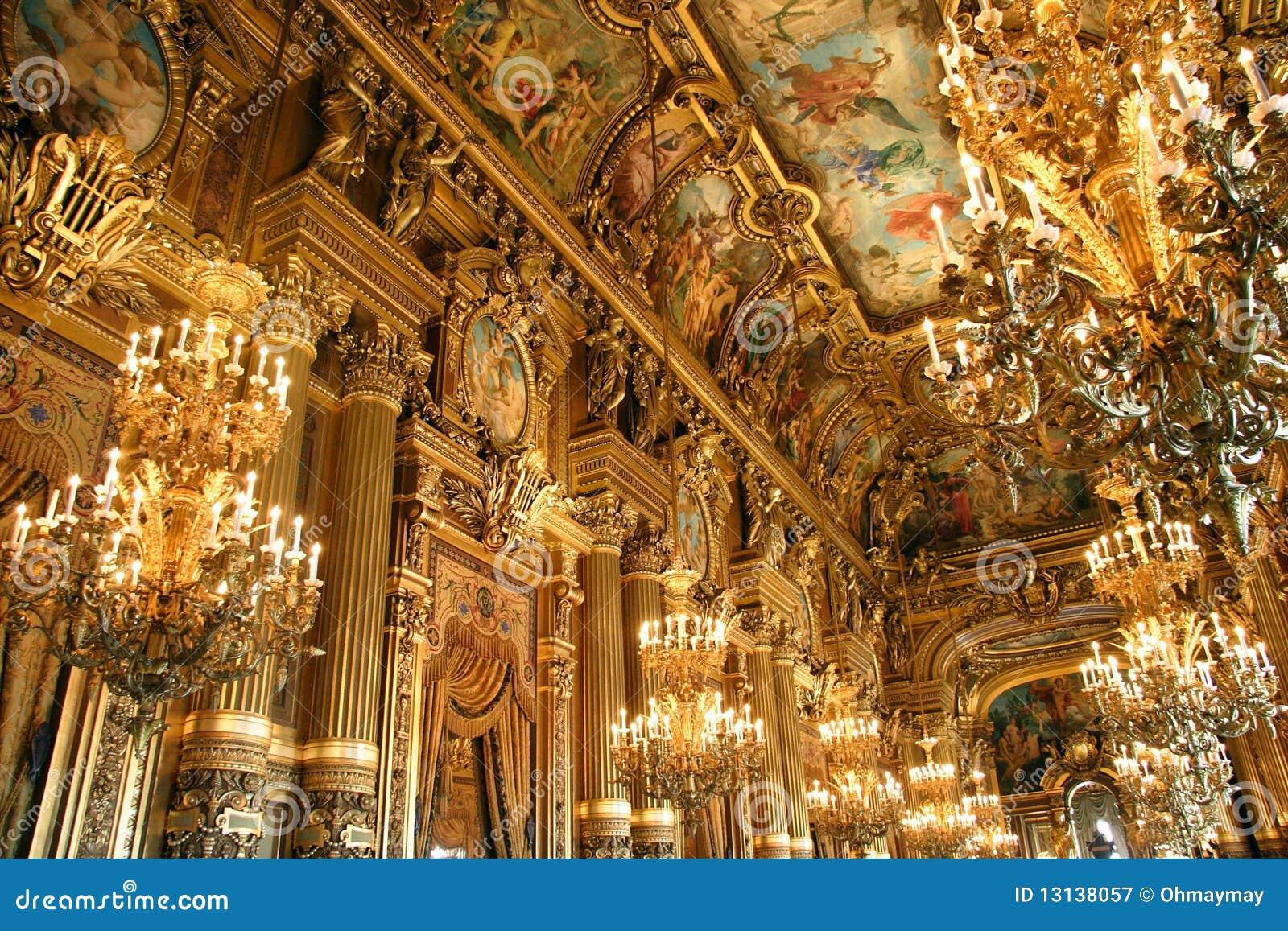interior of opera garnier in paris stock image image 13138057. Black Bedroom Furniture Sets. Home Design Ideas