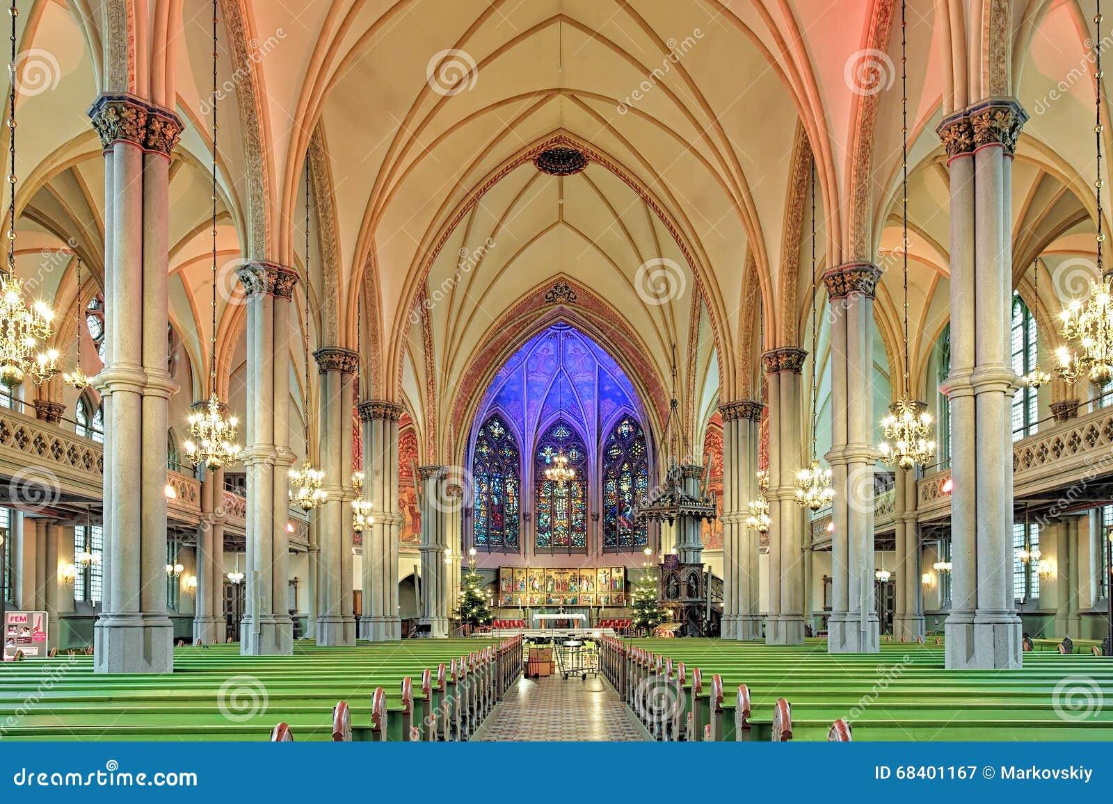 Interior Of Oscar Fredrik Church In Gothenburg Sweden