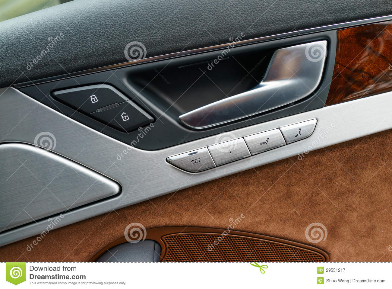 Car Door Panel : Interior panel of car door royalty free stock photography