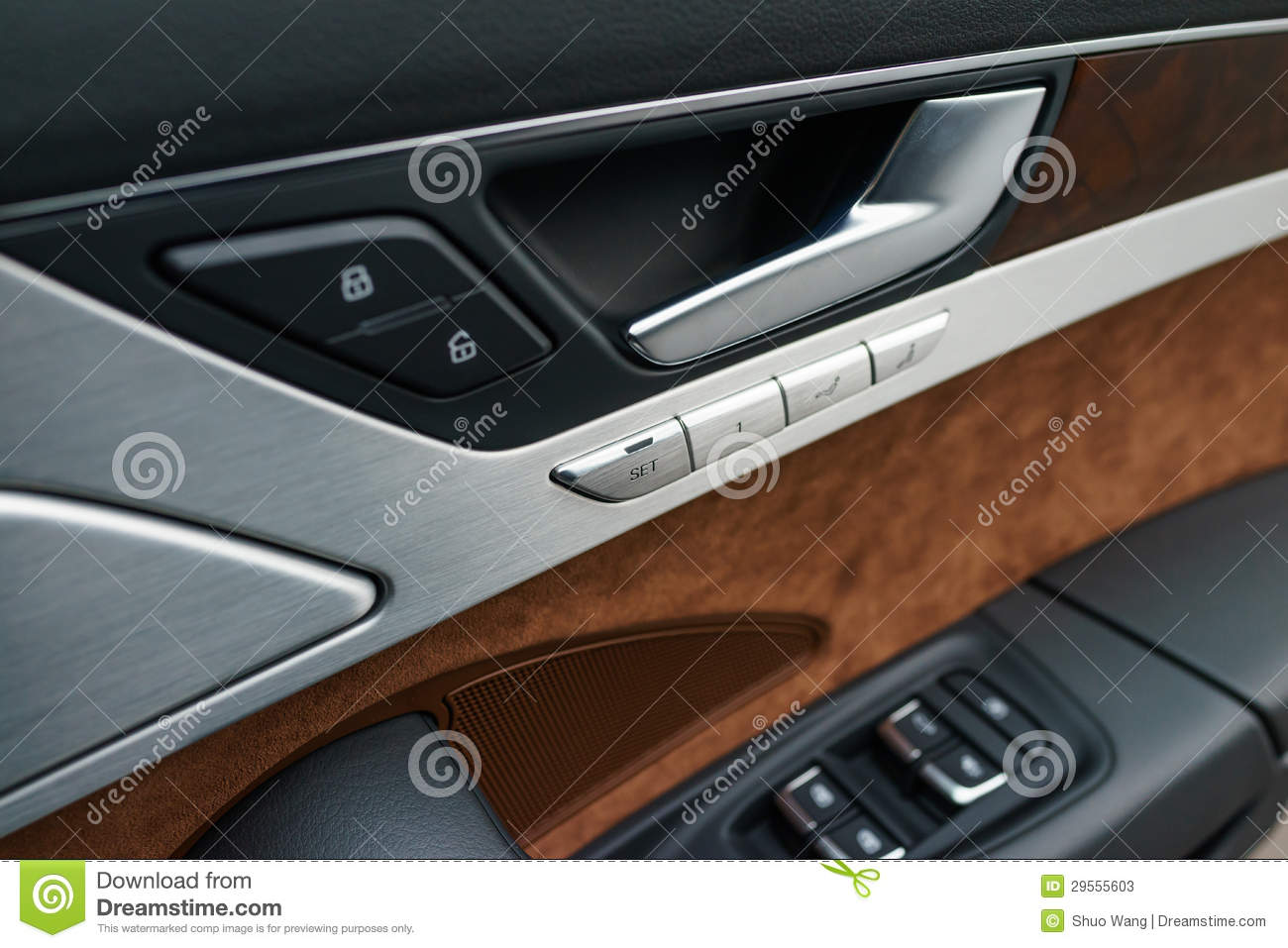 Car Door Panel : Interior panel of car door stock photos image