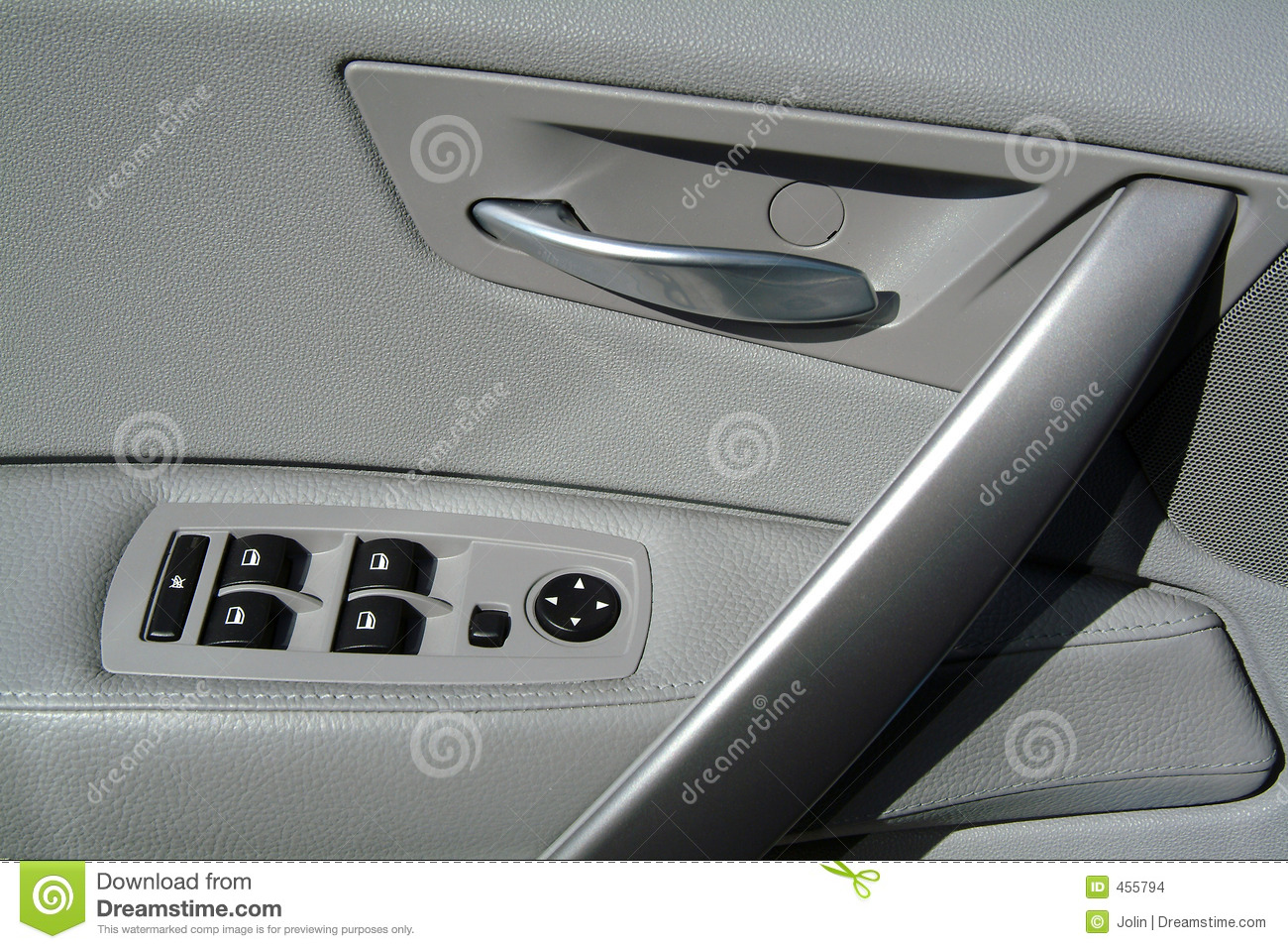 Car Door Panel : Interior panel of car door stock photo image switch