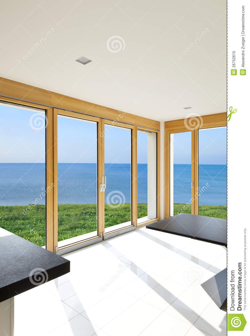 Interior panoramic windows royalty free stock photo - One time interior house cleaning ...