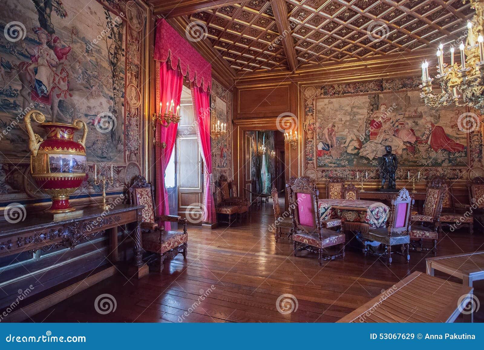 Interior Of Pau Castle Chateau De Pau France Editorial Stock