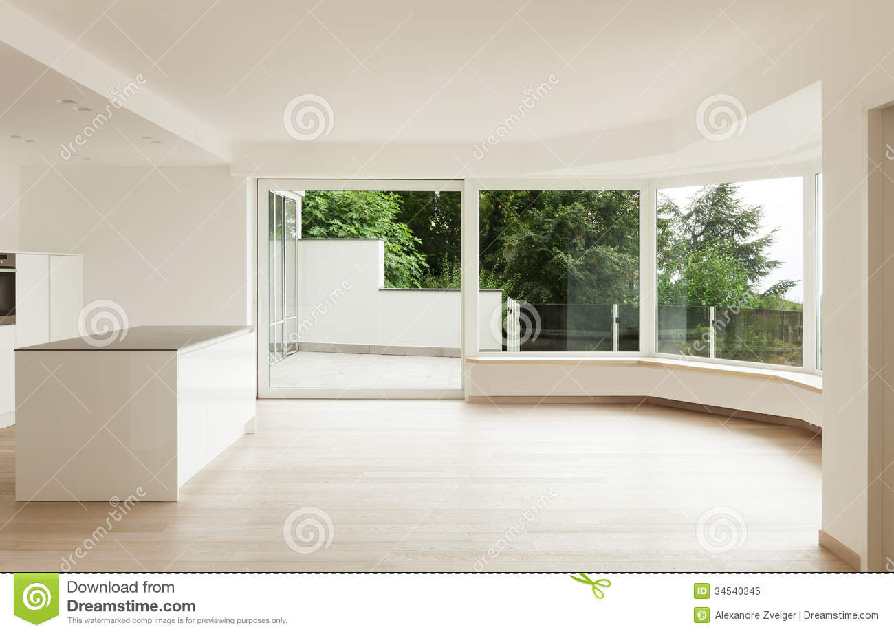 Interior Penthouse Totally Empty Royalty Free Stock Image