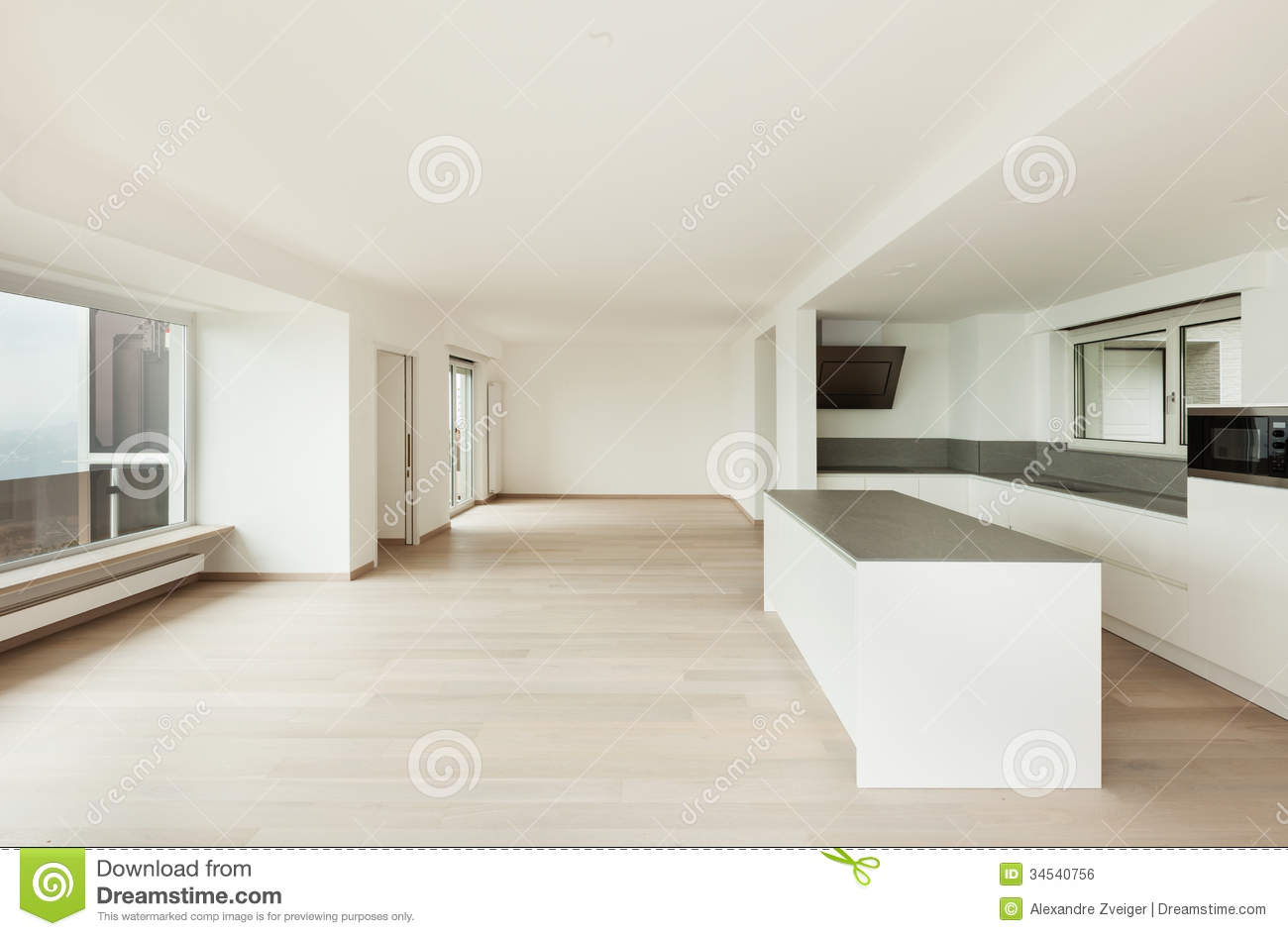 Interior Penthouse Totally Empty Luxury Indoor