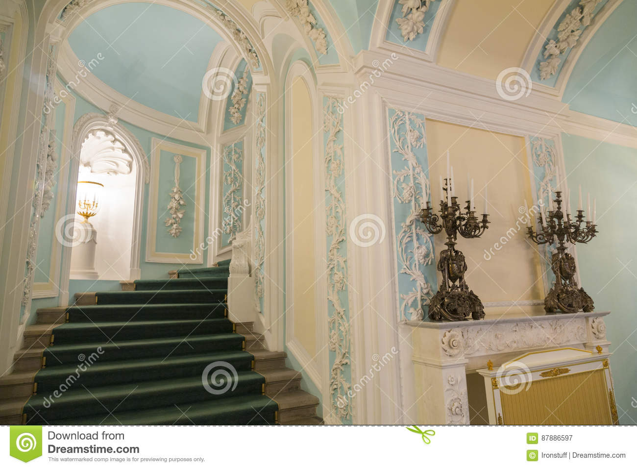 Interior Of The Petroff Palace, Moscow, Russia Editorial