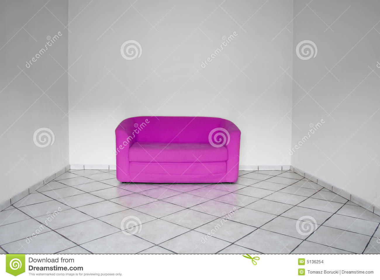 Interior With Pink Furniture Stock Images Image 5136254