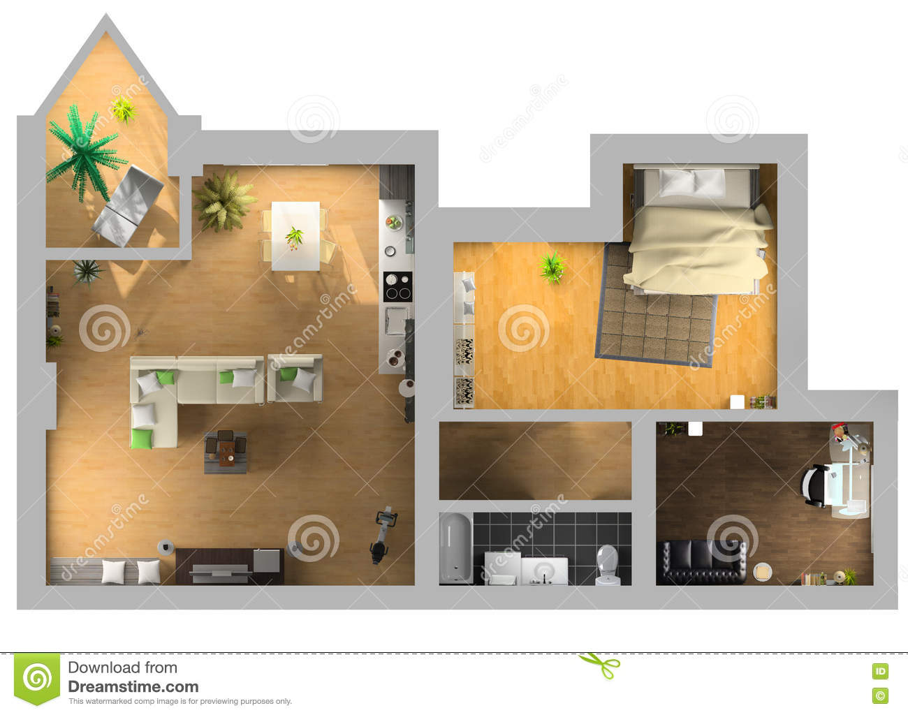 Interior design stock illustration. Illustration of design ...