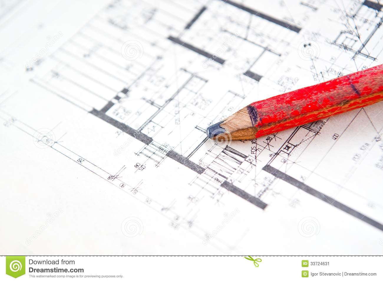 Blueprint Floor Plan Interior Planing Stock Image Image Of Office Plan