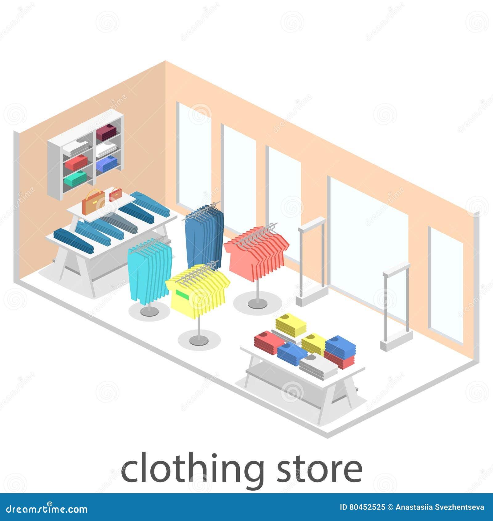 Interior Plano Infographic Isom Trico 3d De La Tienda De