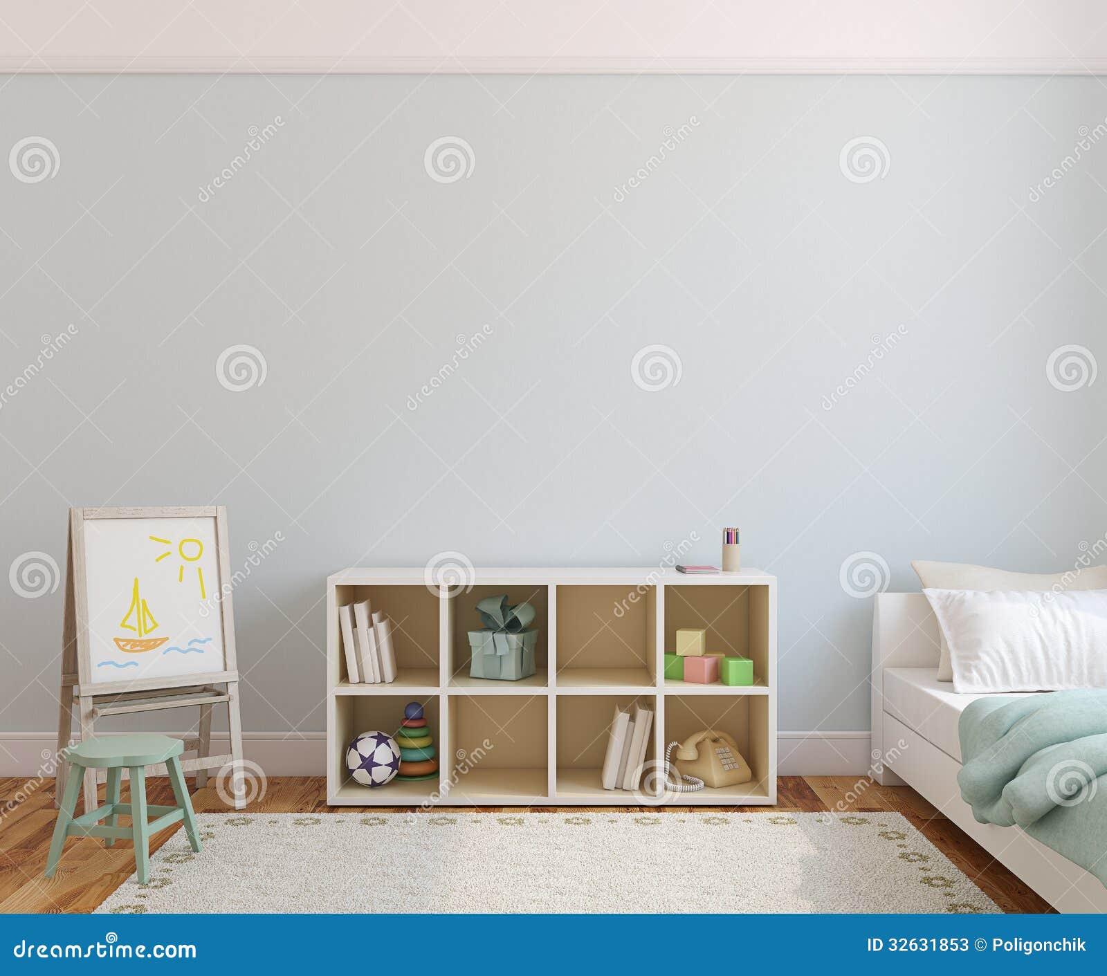 Stanza Studio In Casa interior of playroom. stock illustration. illustration of