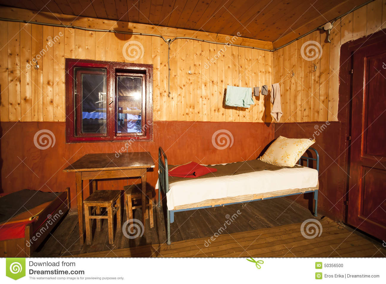 Interior Of A Poor House Stock Photo Image Antique