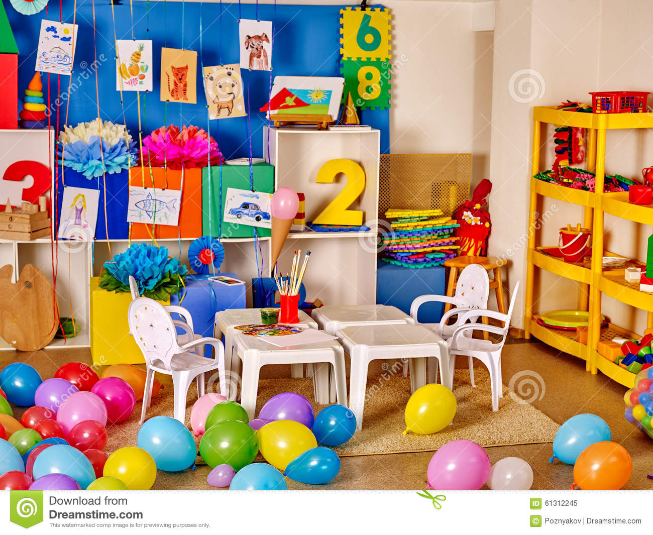 Worksheet Preschool Kindergarten interior of preschool kindergarten stock photo image 61312245 kindergarten