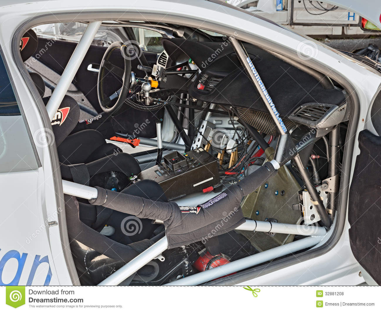 Interior Of A Racing Car Editorial Stock Photo Image