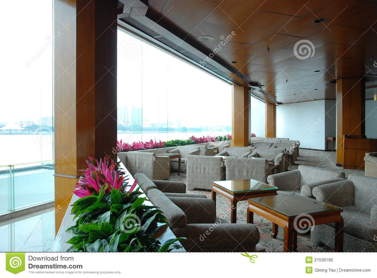 Restaurant Interior Window : Interior of the restaurant royalty free stock image