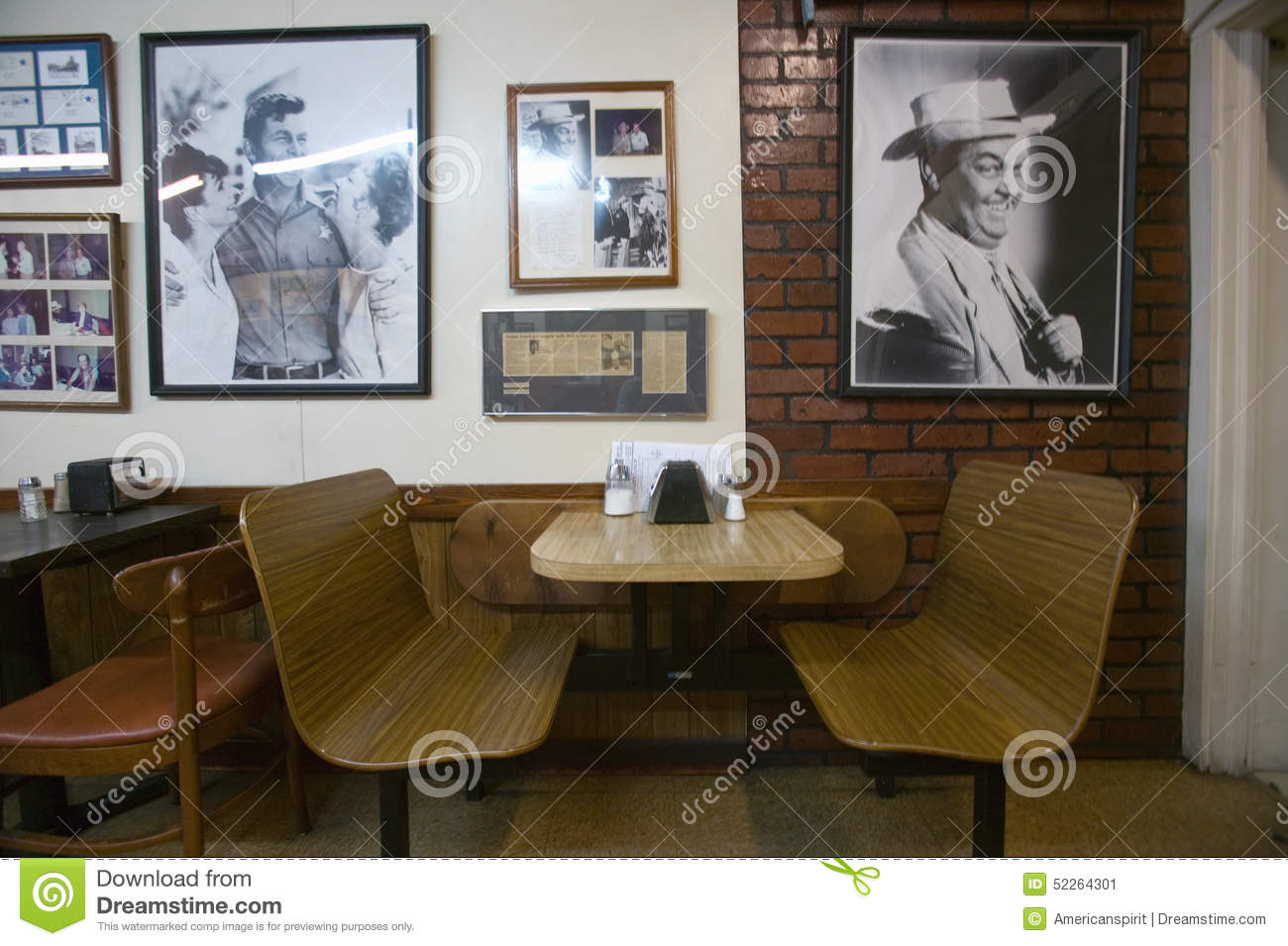 Interior of restaurant in Mount Airy, North Carolina, the town featured in �Mayberry RFD� and home of Andy Griffith