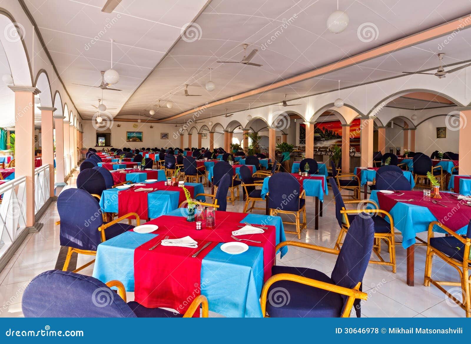 Interior of the restaurant royalty free stock photos
