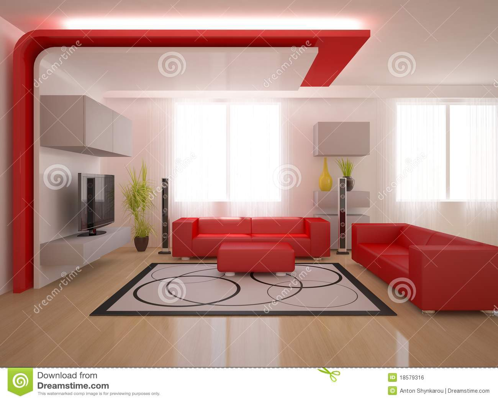 Interior rojo del dise o moderno stock de ilustraci n for Diseno de interiores para karaoke