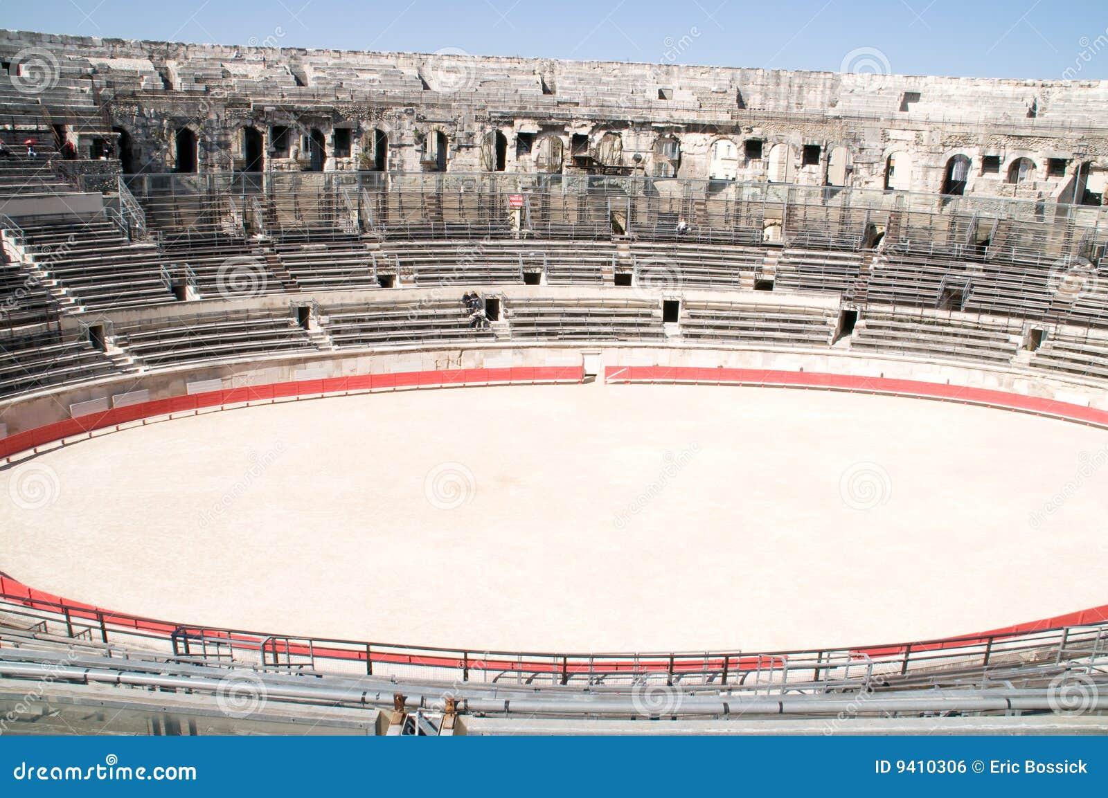Interior of Roman arena in Nimes