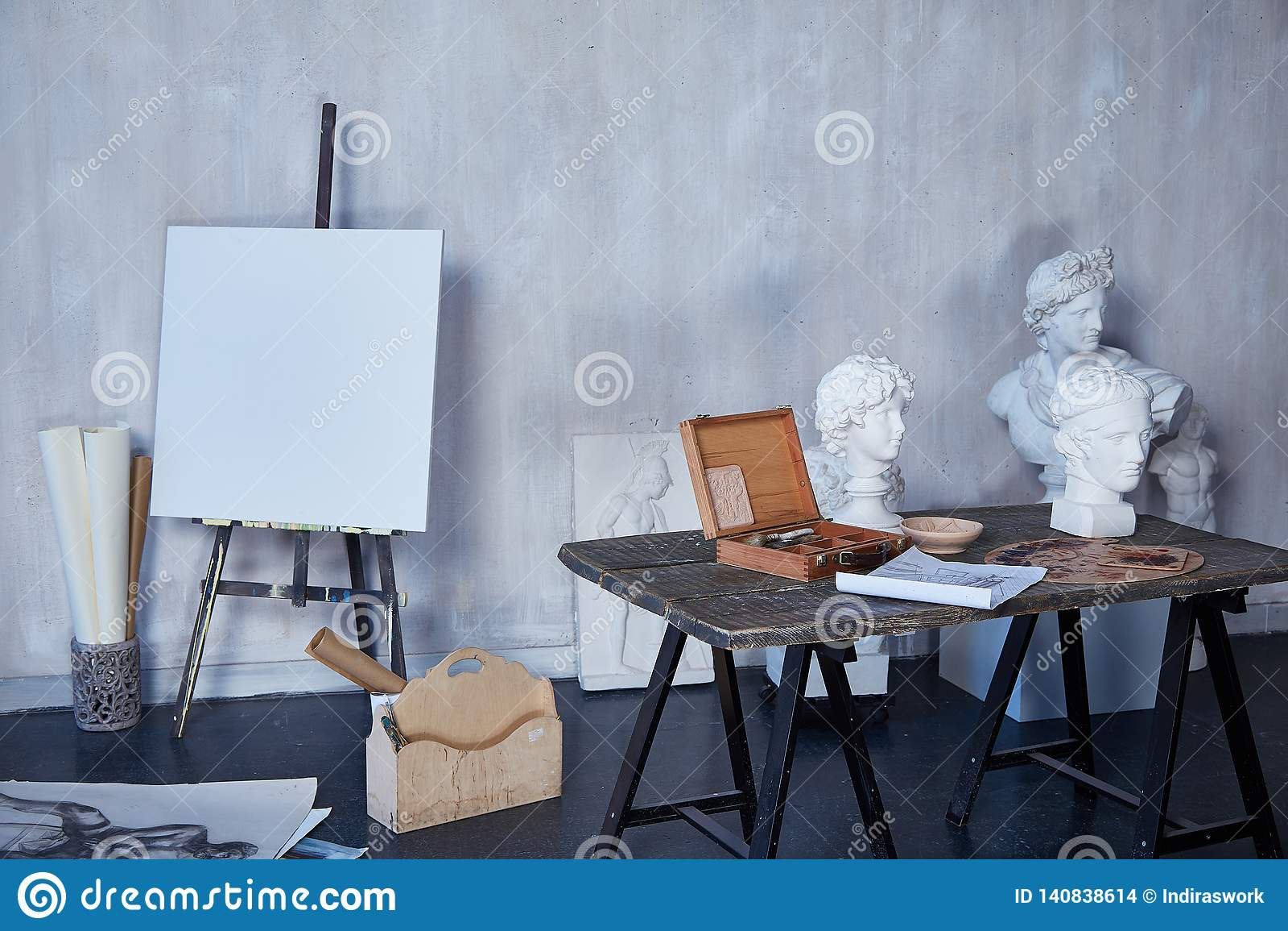 Interior Room Art, Workshop, Artist Painting, Drawing