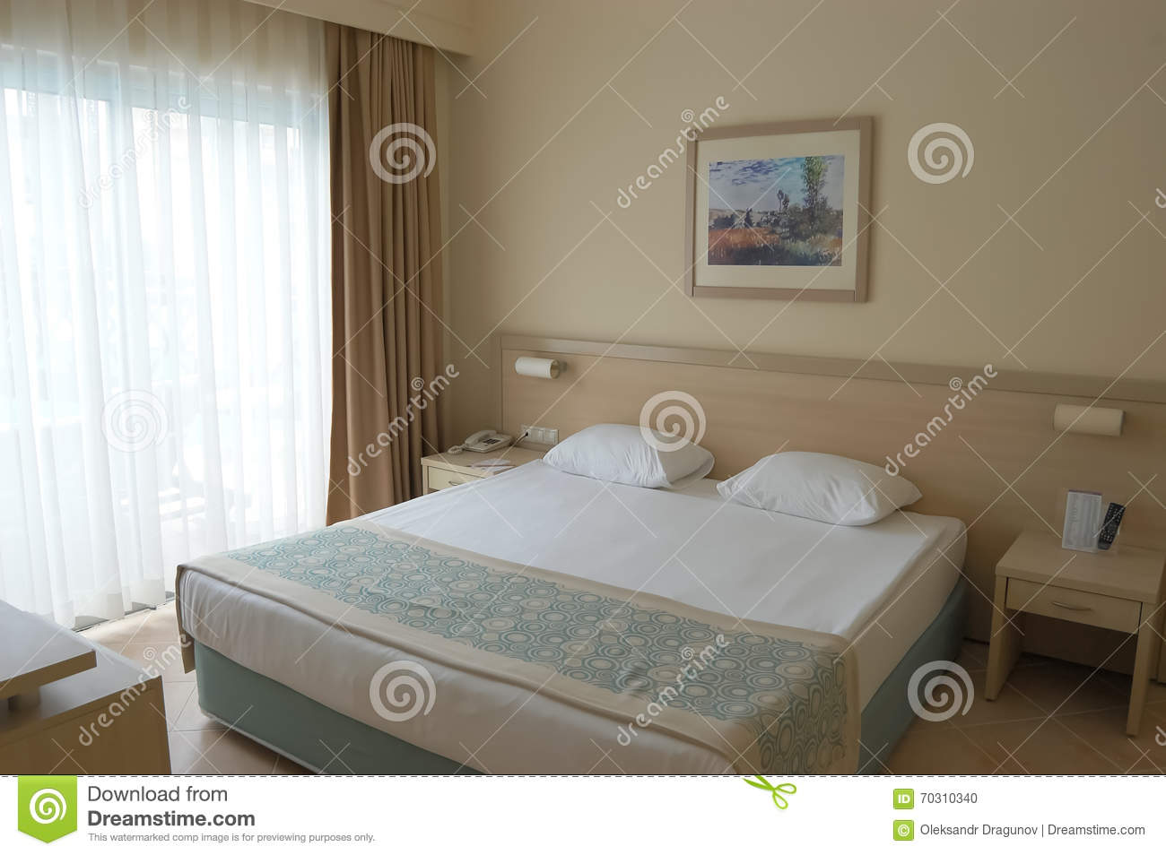 Interior Of Room In Beige Tones In The Hotel Of Turkey