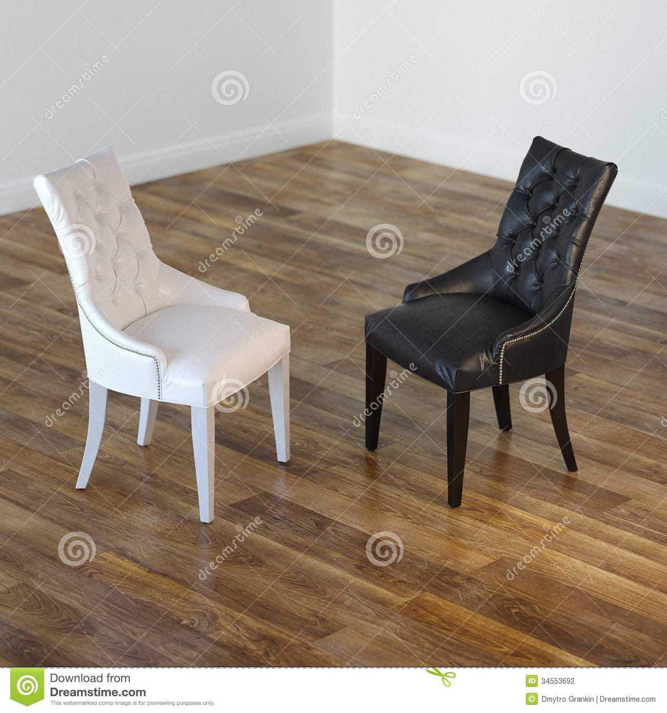 Interior Room With Black And White Chairs Stock Photography -  black and white chairs