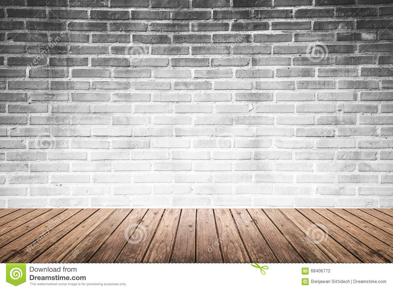 Gray Cartoon Brick Wall Texture : Gray brick wall in an interior royalty free stock image