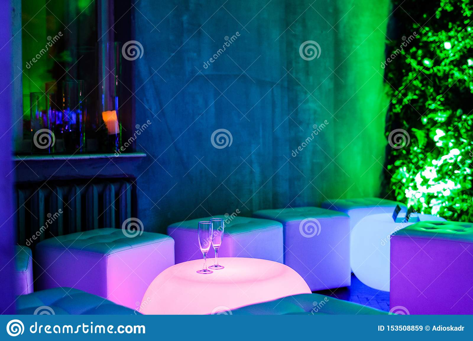 The interior of the room at the party