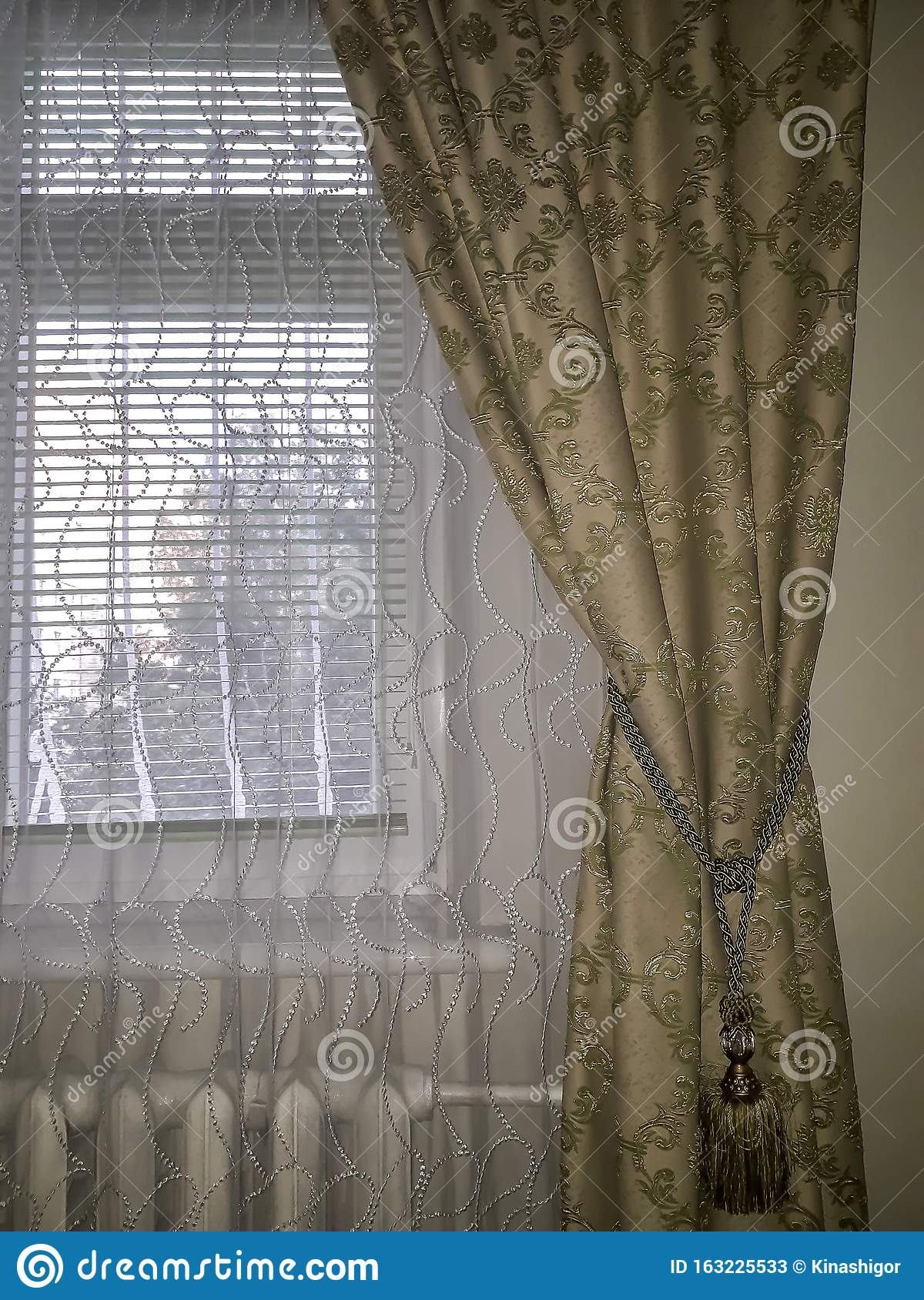 Interior Of Room Stock Image Image Of Curtain Home 163225533