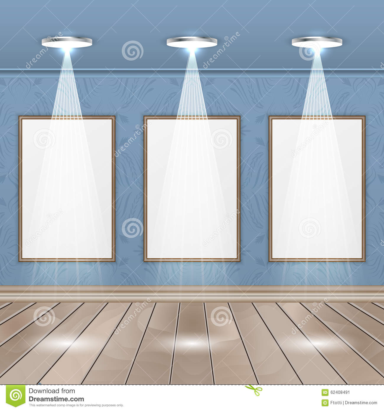 Interior Rooms With Wooden Floor Image Spotlights And