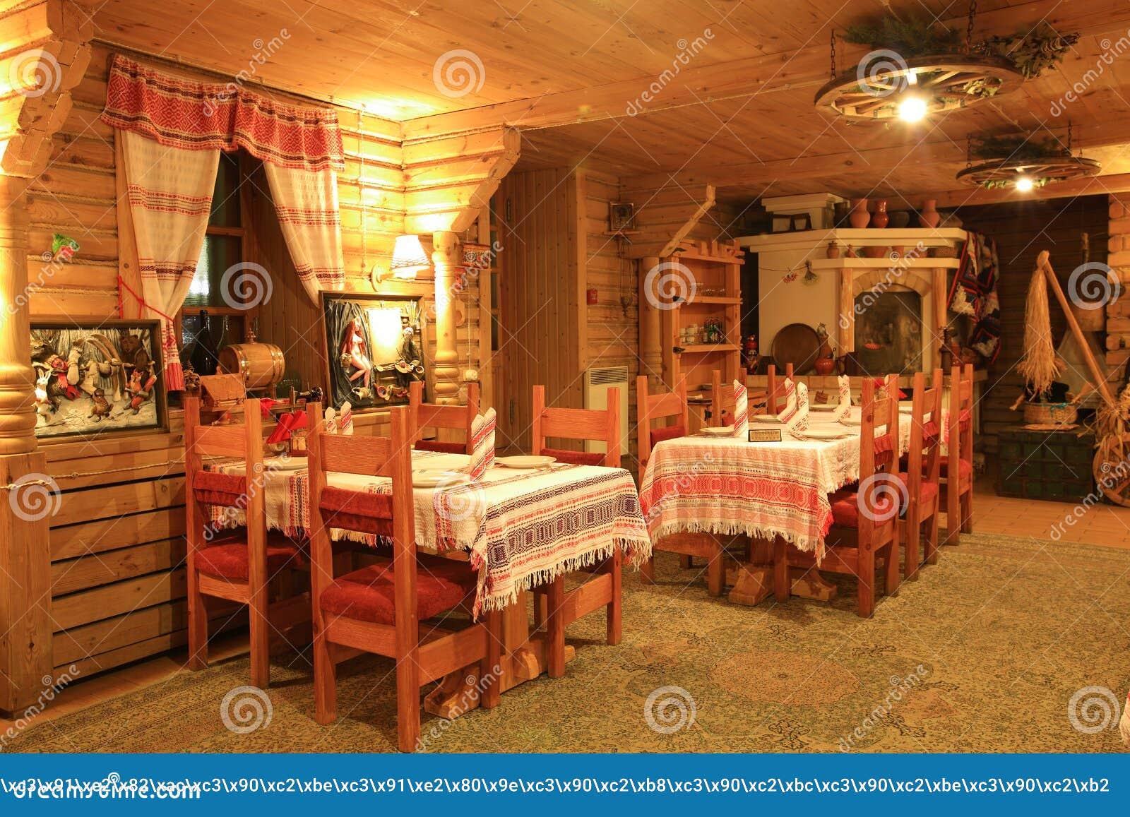 interior of russian izba editorial photo image 65765296