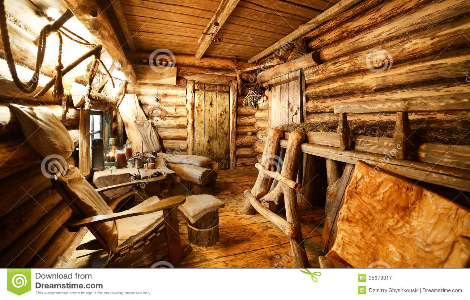 Interior Of Russian Wooden Sauna Stock Image Image 35679817