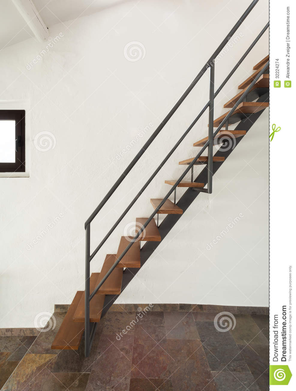 Interior Rustic House, Stairs Stock Images - Image: 32224274