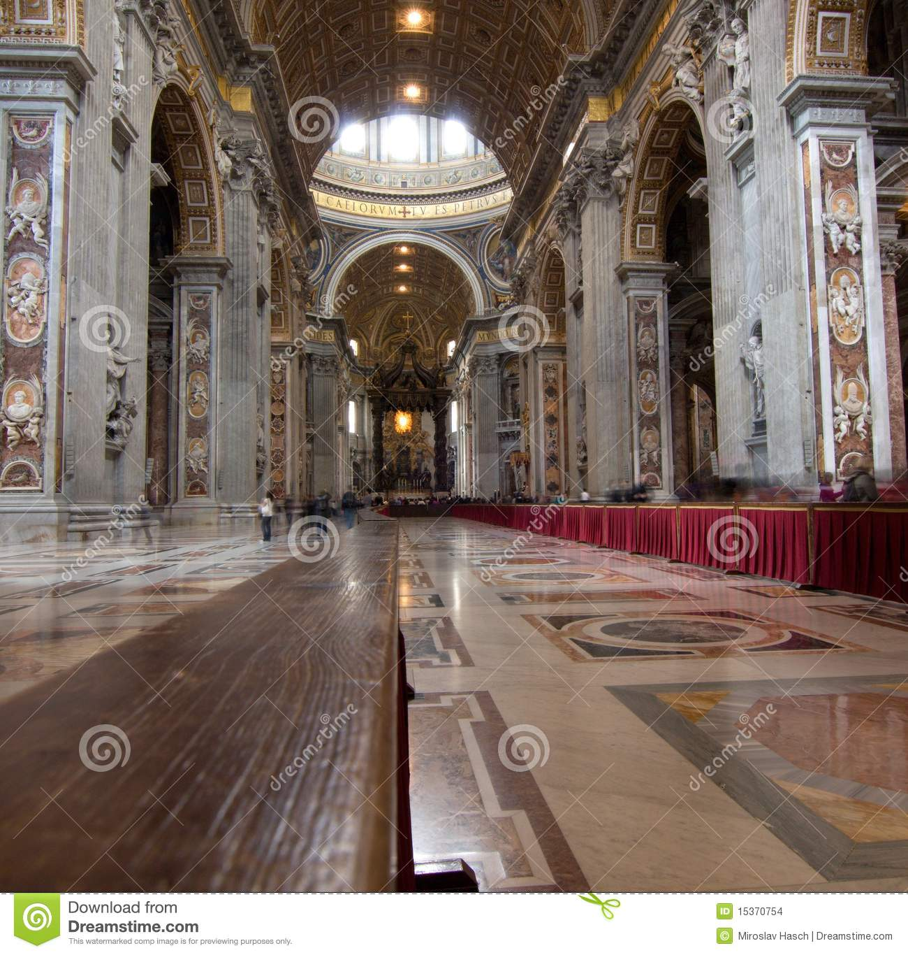 Interior of Saint Peter s dome Rome, Italy.