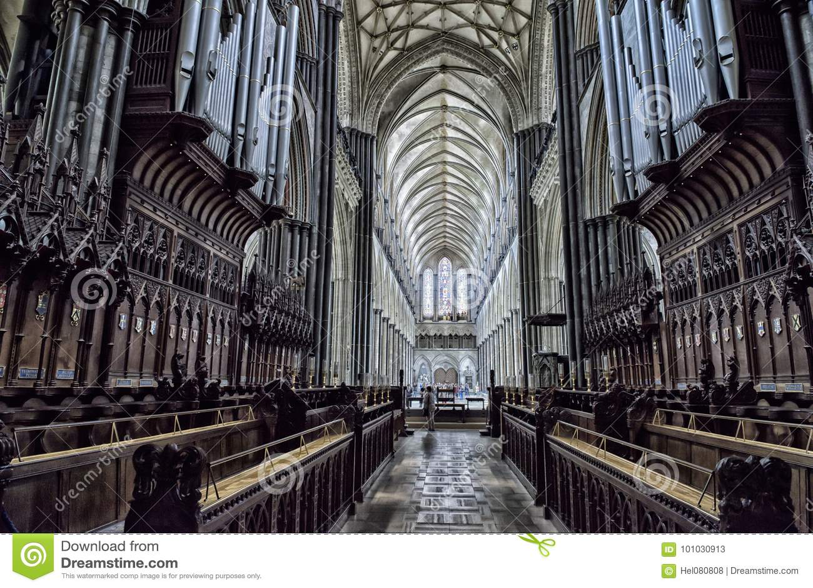 Interior Salisbury Cathedral