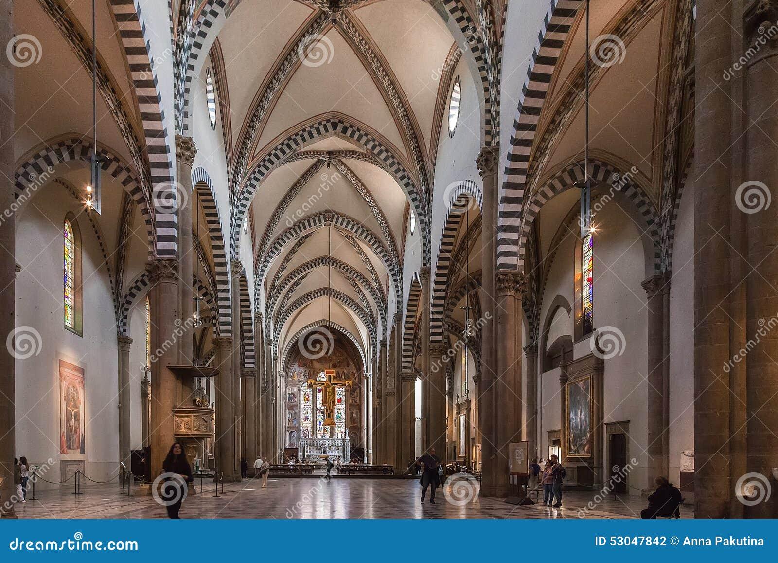 The Interior Of Santa Maria Novella Church Florence