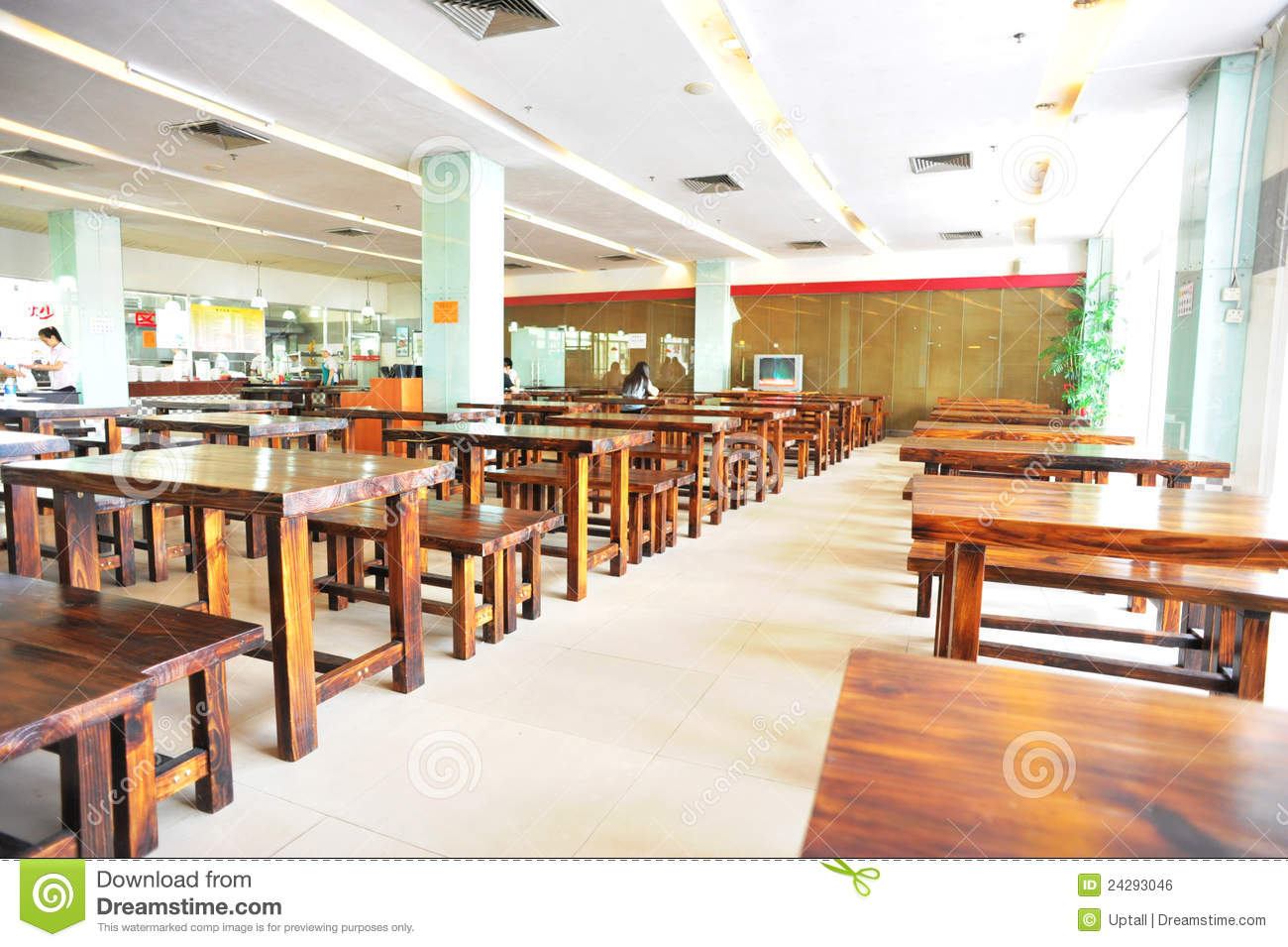 Interior of school dining room editorial photo image for Table design 10 personnes