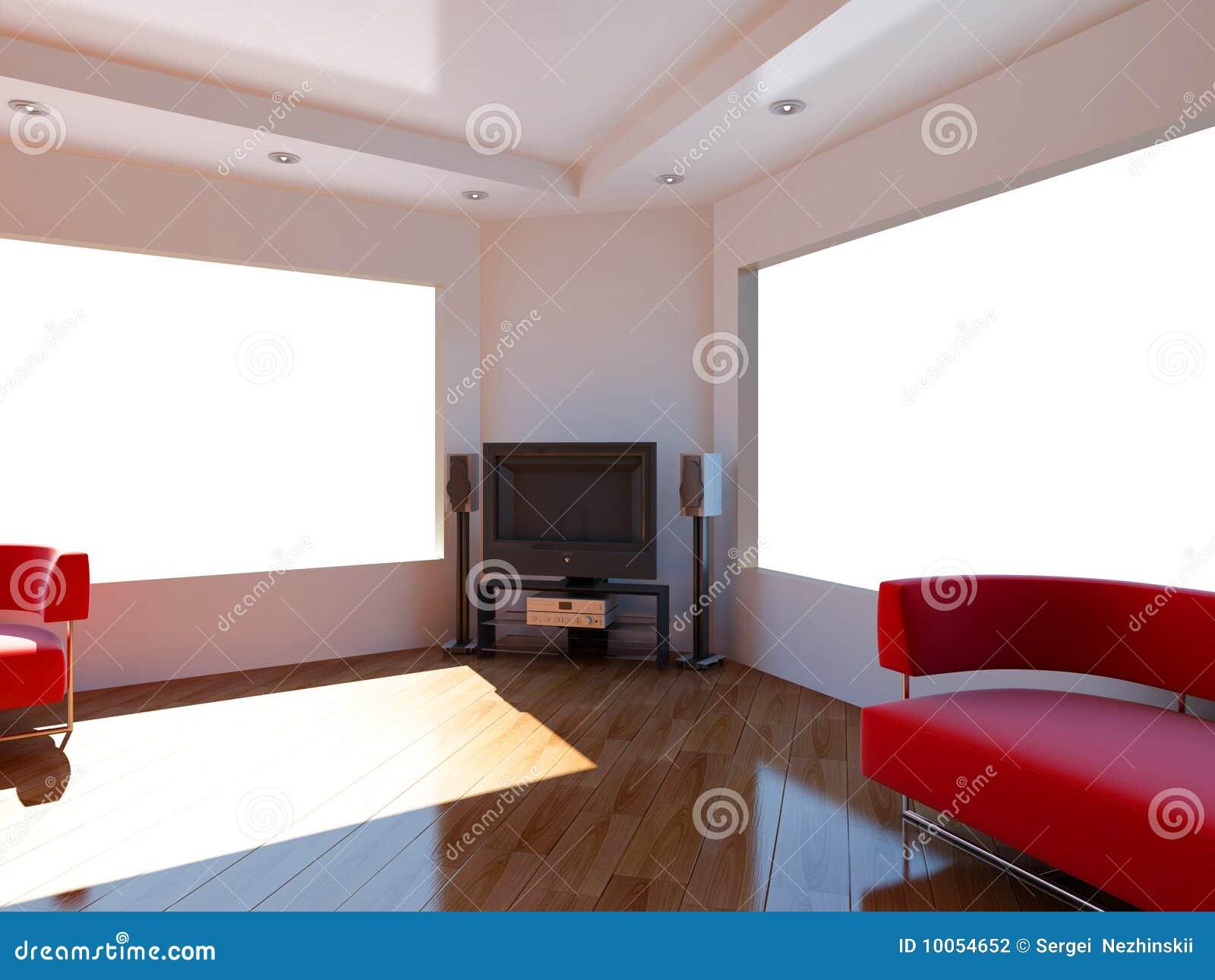 Download Interior Set Two Hundred Seventeen Stock Illustration - Illustration of spotlights, speaker: 10054652