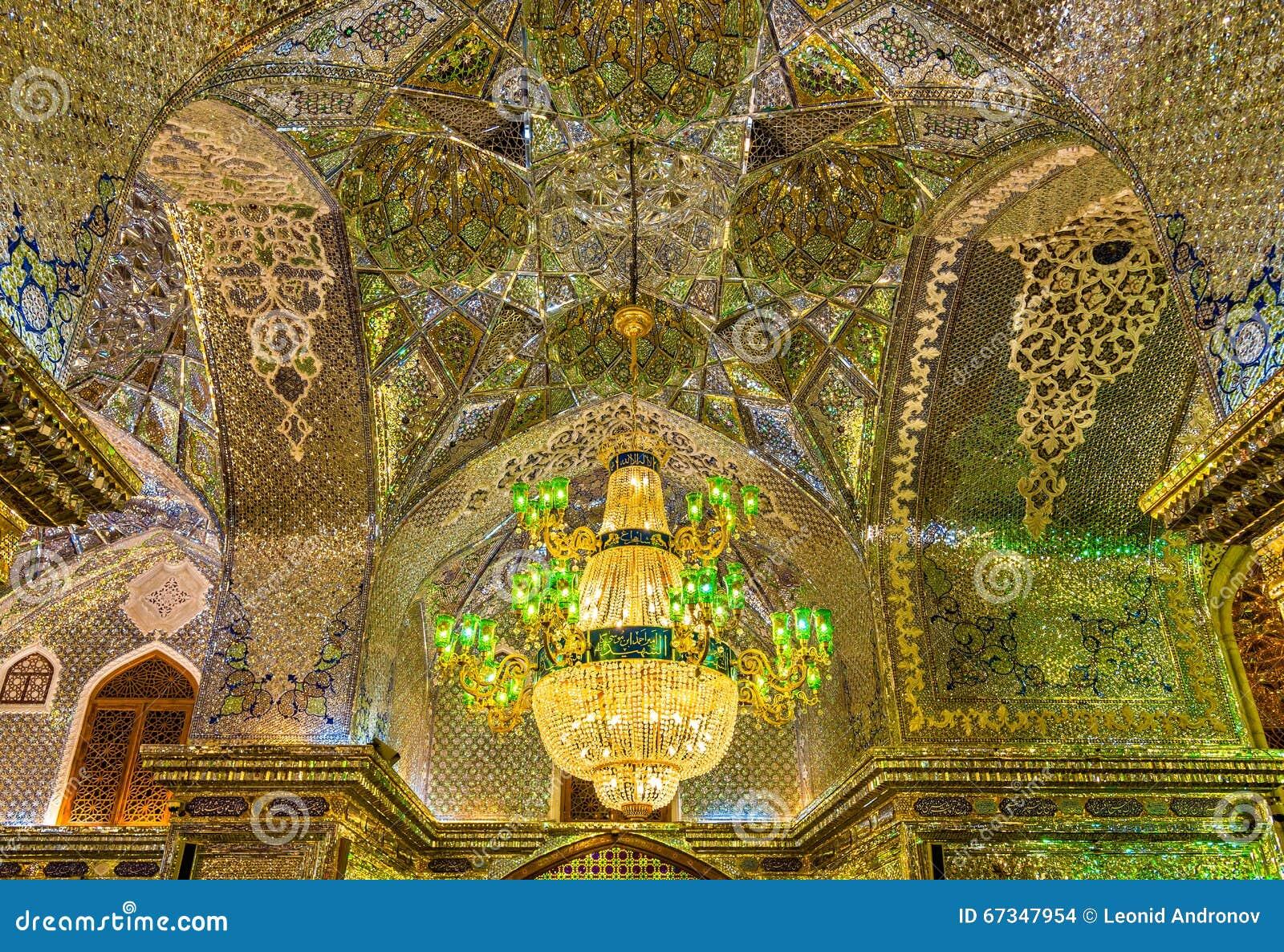 Shah Cheragh Mosque Mirror Mosaic Arch In Shiraz Iran