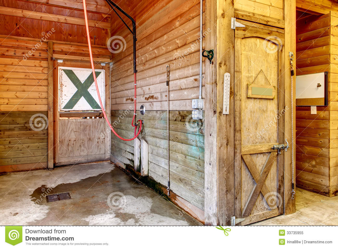 Interior Of Shed With Horse Stables Stock Image Image Of Stable