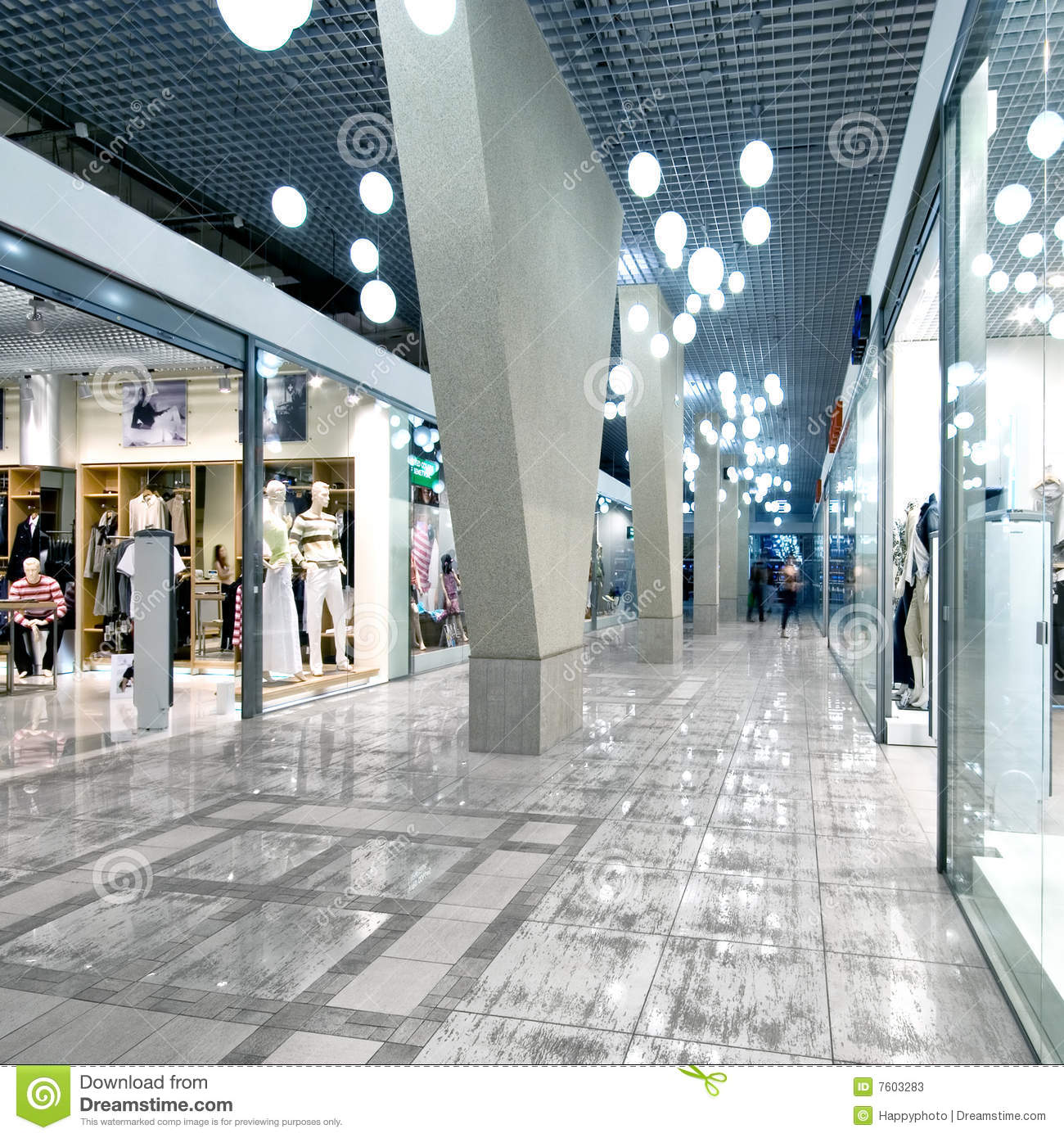 Interior Of A Shopping Mall Stock Image - Image of center, design ...