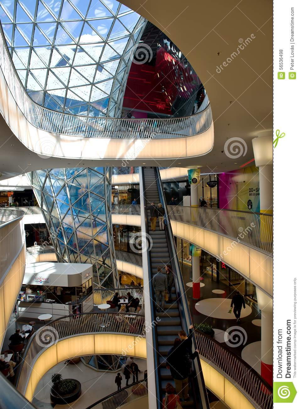 interior shopping mall myzeil in frankfurt germany. Black Bedroom Furniture Sets. Home Design Ideas