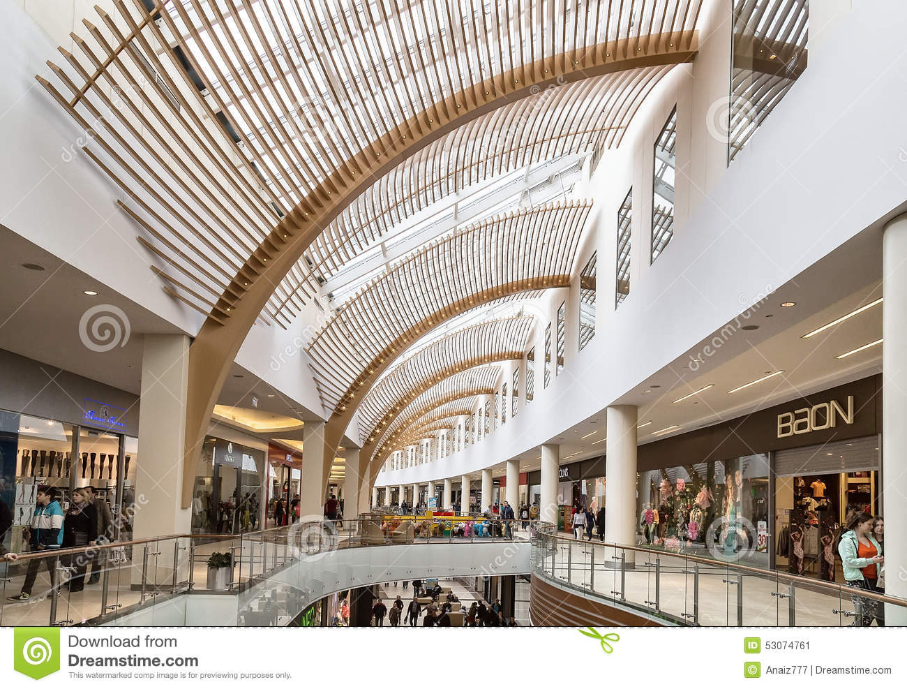 Interior Of Shopping Mall Editorial Photo Image Of Alley