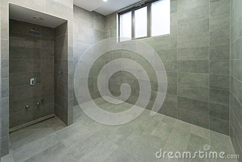 Interior of a shower room stock photo image of clothing