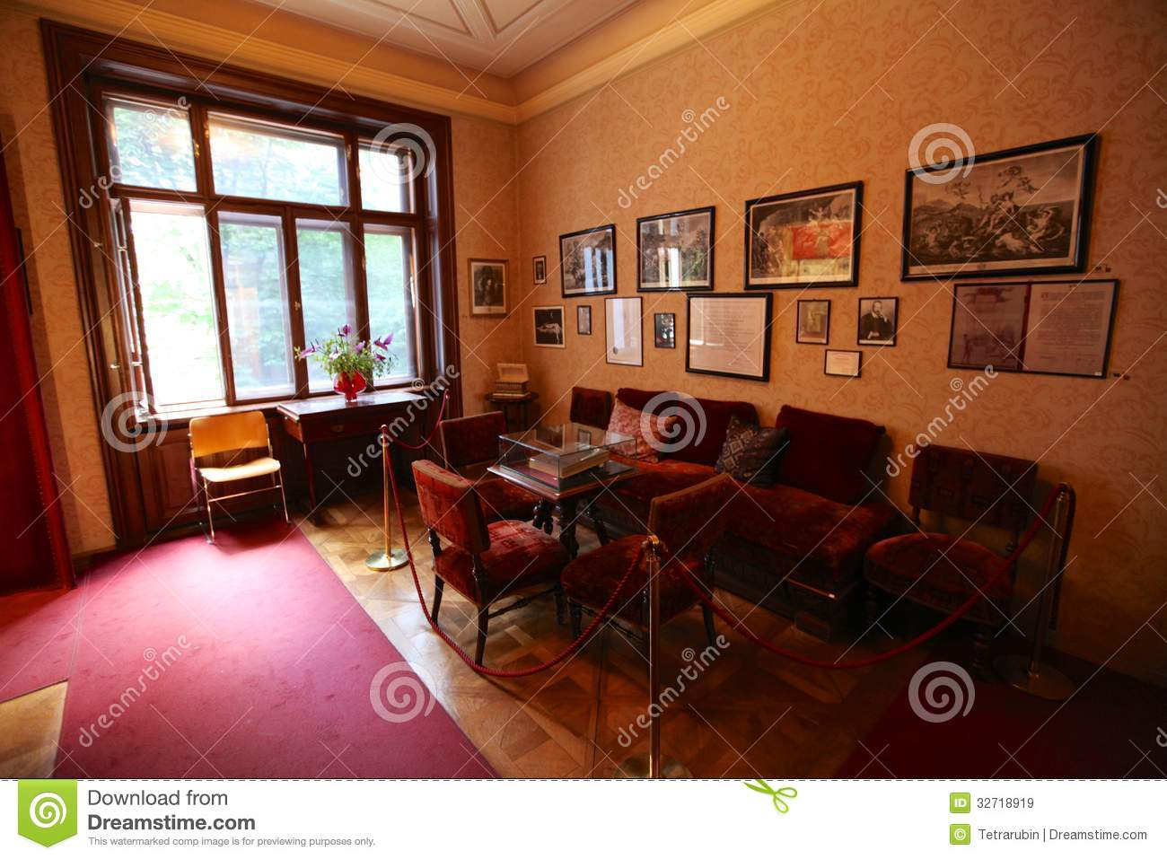 Interior Of Sigmund Freud House In Vienna Editorial Stock