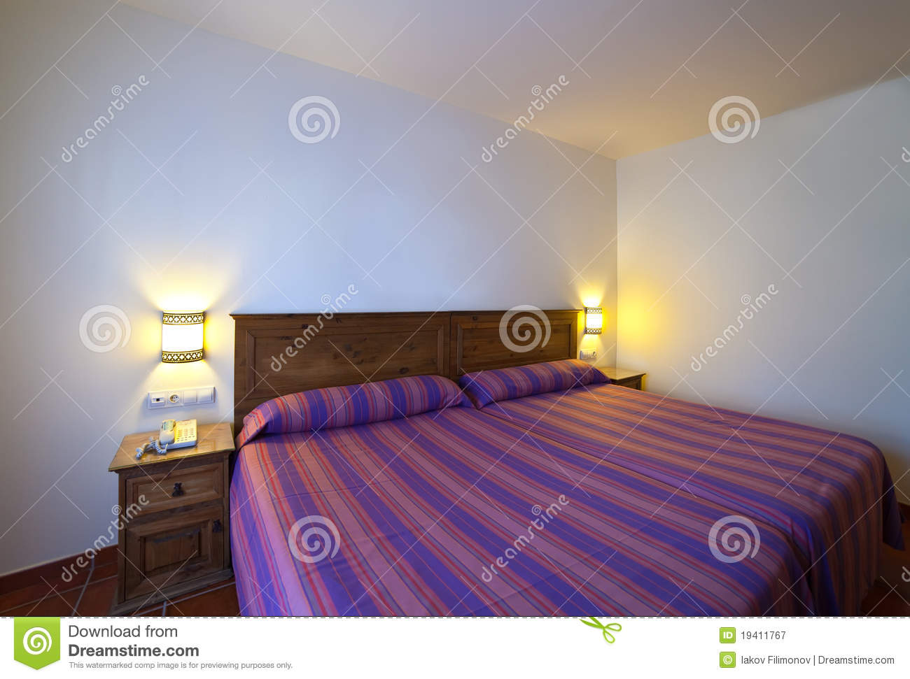 Interior of simple bedroom royalty free stock photography image 19411767 - Image of simple bedroom ...