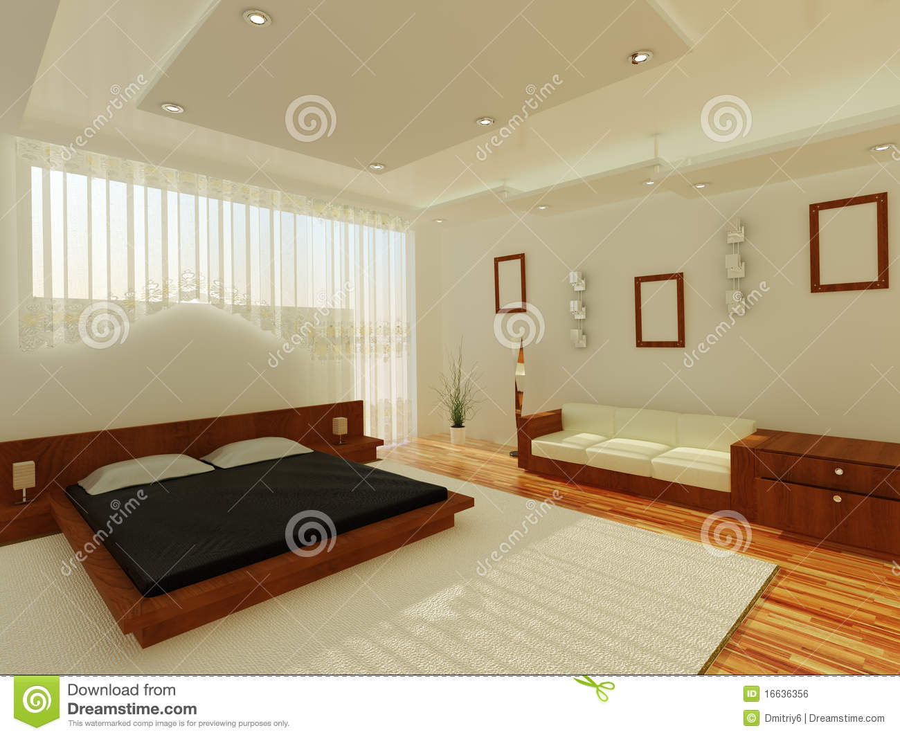 Interior of a sleeping room royalty free stock image for Sleeping room interior design