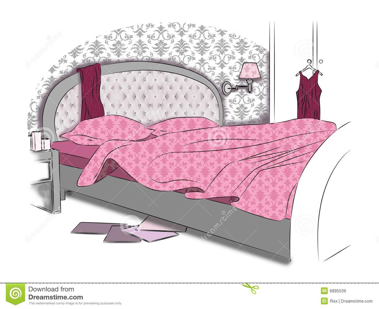 Interior of sleeping room royalty free stock images for Sleeping room furniture